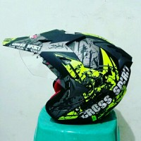 harga Helm Cross Jpr Supermoto Motif Cross Spirit Yellow Fluo Black Tokopedia.com