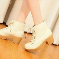 Jual TRAND Sepatu Boots Heels Wanita SBO104 Murah