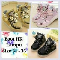 Sepatu walker anak perempuan import Hello Kitty boot boots glitter