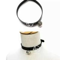 [ 73 ] Round Bell Leather Choker / Choker Bel Lonceng Kulit