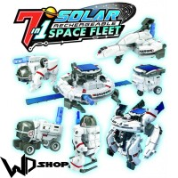 Jual 7 in 1 Transforming Space Fleet Solar Robot Science & Education Toys Murah