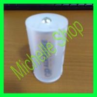Battery Baterei Adaptor Adapter Baterai AA ke D Size