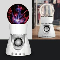 Bluetooth Speaker Magic Plasma Ball Loudspeaker TF Card FM Radio USB