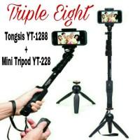 Jual Paket Selfie Tongsis Bluetooth YUNTENG YT-1288 + Mini Tripod DF-228 Murah