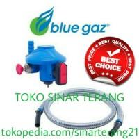 PAKET HEMAT Regulator + Selang BLUE GAS GAZ LPG Bagus Aman Murah SNI