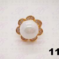 Cincin emas mutiara bunga permata perhiasan imitasi gold18k yaxiya 113