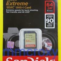 harga Sandisk Extreme Sdcard 64gb 90mb/s Class 10 / Sdxc Uhs-u3 V30 4k Tokopedia.com