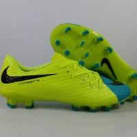 Sepatu Bola Nike Hypervenom Phelon III Volt Blue FG Replika Impor