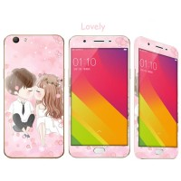 Oppo F1S Tempered Glass Anime Lovely Kiss Full Protection with 3D Case