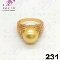 Cincin emas Gold pearl jewel Perhiasan imitasi Gold 18k Yaxiya 231
