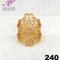 Cincin emas Dubai motifs carved love Perhiasan imitasi 18k Yaxiya 240