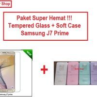 [PAKET] Softcase + Tempered Glass Samsung J7 Prime / On 7
