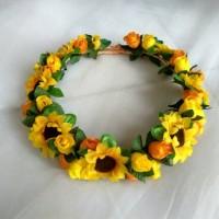 Jual FLower Crown/ Mahkota bunga SUNFLOWER Full mix Aksesoris rambut Murah