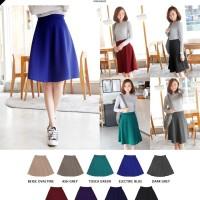 Jual Midi Flare Skirt / Rok Wanita 67 cm Panjang / Rok Cewek Trendy Murah
