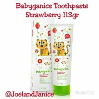 Babyganics Toothpaste Strawberry 113gr