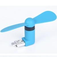 Kipas mini Micro USB OTG Mini Portable Fan for Smartphone Blue