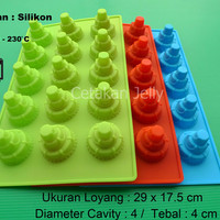 CetakanKue / Puding Mini 3 Tier Cake