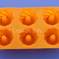 Cetakan Puding / Kue Bundt 6 cavity