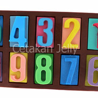 Cetakan Puding / Coklat Medium Numerik