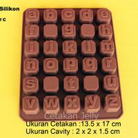 Cetakan Puding / Coklat Lowercase Box (Huruf Kecil)