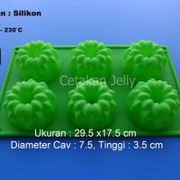 Cetakan Puding / Kue Galaxy Flute 6 cavity