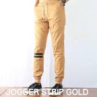 Jual Celana Jogger Pants Pria Gold / Jogger Pants Strip / Harga Murah Murah