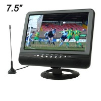 TV Analog TFT LCD 7.5 Inch Wide View Angle Black Hitam
