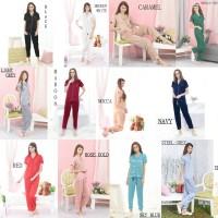 harga Piyama Celana Panjang Wanita Baju Tidur Satin Premium Long Pants S-m-l Tokopedia.com