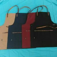 Apron Canvas Synthetic Leather (celemek)