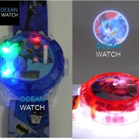 Jam Tangan Anak Proyektor Lampu, Laser, Hologram, Music Batman AJP 37