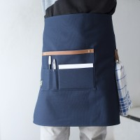 Half Apron Canvas and Synthetic Leather (Celemek Pinggang), Blue Navy