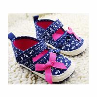 Anchor Pink Ribbon Prewalker Shoes / sepatu bayi / prewalker