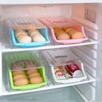 Rak Kulkas Model Laci Dorong Serbaguna Egg Box Organizer Frozen Food
