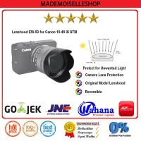 Lenshood EW-53 For Canon 15-45 IS STM, Canon M10/M3 Kit Lens