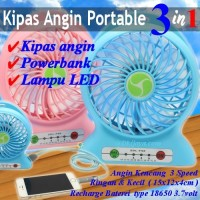 harga [power Bank] Kipas Angin / Portable Kipas Mini 3in1 Powerbank Tokopedia.com
