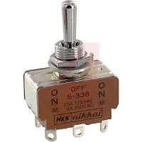 Toggle Switch Nikkai S-338 (On)-Off-(On) NKK Japan