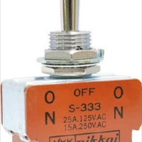 Toggle Switch Nikkai S-333 On-Off-On NKK Japan