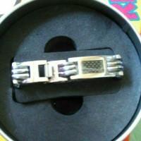 gelang kesehatan magnet titanium tiens untuk pria anti radiasi laptop