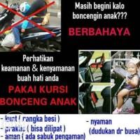 Jual Boncengan Anak / Kursi bonceng Motor Matic Polos Murah