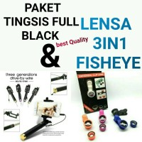 Jual paket selfie tongsis with lensa fisheye 3in1 murah berkualitas Murah