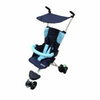 Stroller BabyElle Wave S300 Navy Blue( GO SEND)