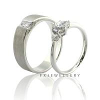 FX Wedding Ring Silver / Cincin Kawin / Cincin Couple / Cincin Nikah