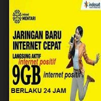 INDOSAT 9GB ALL JARINGAN ( 3G & 4G ) BERLAKU 24JAM