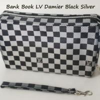 Bank Book Organizer LV Damier Black Silver BBO Motif WHPO HPO Dompet