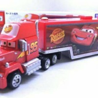 Jual Tomica Disney Pixar Cars MACK Team Transporter Cargo Truck Trailer Murah