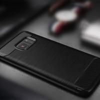 Samsung Galaxy S6 Flat TPU Thin Softgel Case w/ Carbon Brush Texture