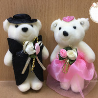 Boneka Wedding Couple Bear MK Souvenir Kado Pernikahan Pengantin