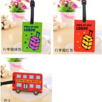 Tag label Koper bisa ditulis alamat pemilik koper kado souvenir lucu