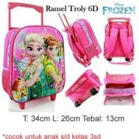 harga Tas Sekolah Anak Trolley 6d Small Frozen Import Tokopedia.com