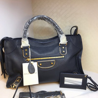 Balenciaga Edge City Large Bag in Navy Mirror Quality